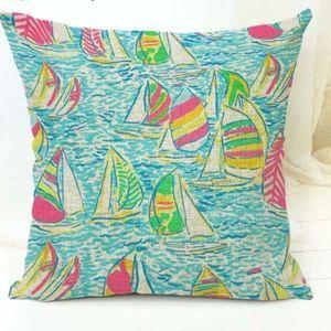 Lilly Pulitzer You Gotta Regatta Boat Throw Pillow